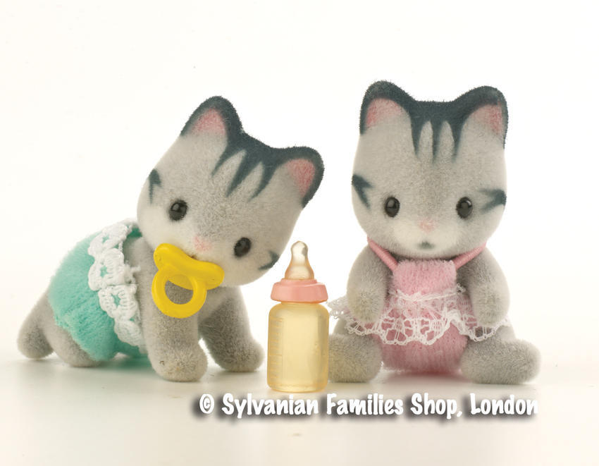 Buy Harvey Grey Cat Twin Babies Online Sylvanian Families