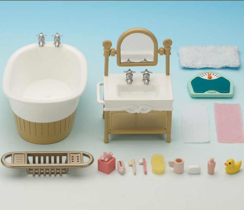 Original Calico Critters Deluxe Bathroom Furniture Set CC2480  EBay