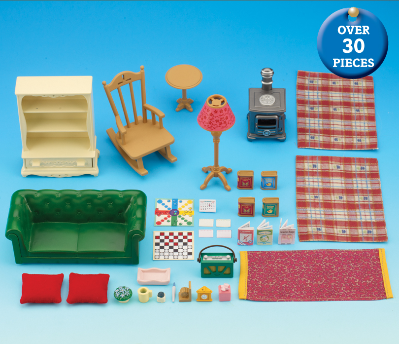 sylvanian families cosy living room set buy cosy living room sylvanian families 24739