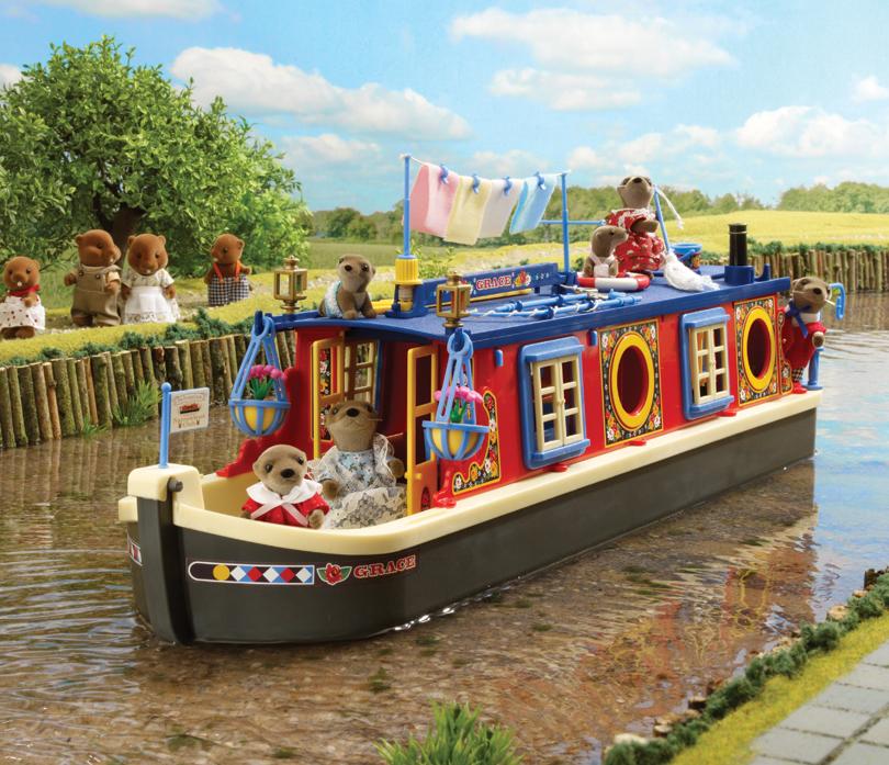 Cabin bathroom lighting - Buy Grace Waterside Canal Boat Online Sylvanian Families