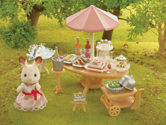 NEW SYLVANIAN FAMILIES SEASIDE BIRTHDAY PARTY w CHOCOLATE RABBIT 5207 GREAT GIFT