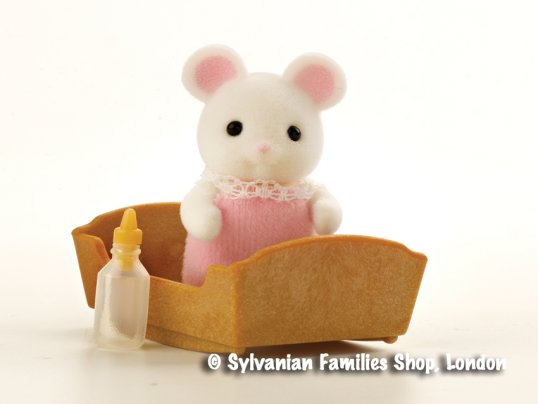Hawthorn White Mouse Baby Girl