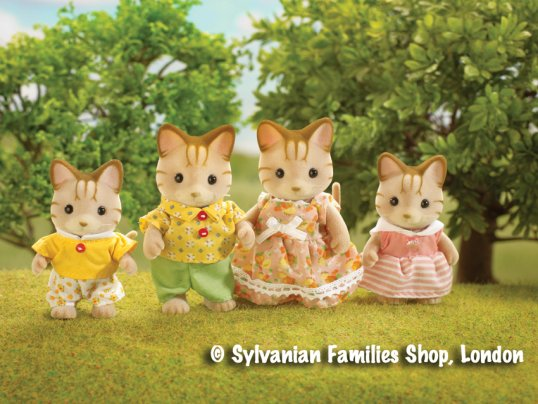 Sandy Striped Cat Family