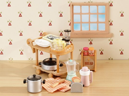 Kitchen Cookware Trolley Set