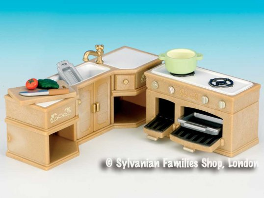 Kitchen Counter & Stove Set