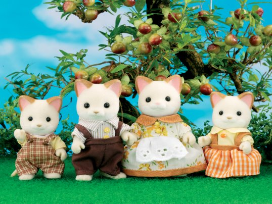 Keats Cream Cat Family