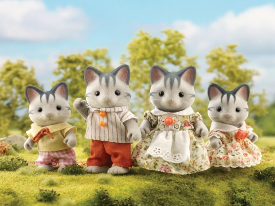 Harvey Grey Cat Family (*)
