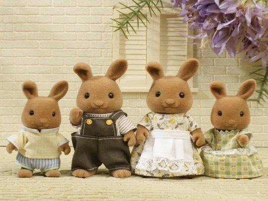 Dappledawn Fawn Rabbit Family