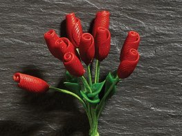 [DB] Flower Stems - 10 Red Tulips