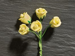[DB] Flower Stems - 5 Yellow Roses