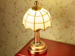 [DB] White Tiffany Table Lamp