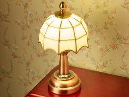 [DB] White Tiffany Table Lamp
