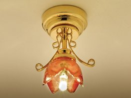 [DB] Red Lily Ceiling Light