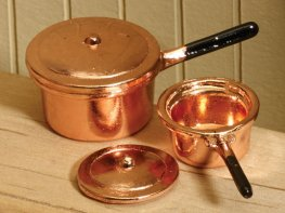 [DB] Copper Saucepans [pair]
