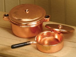 [DB] Copper Cooking Pots [pair]