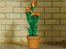 [DB] Potted Iris - Orange