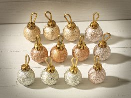 [DB] Christmas Tree Baubles - Gold & Bronze