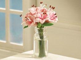 [DB] Vase of Pink Lilies