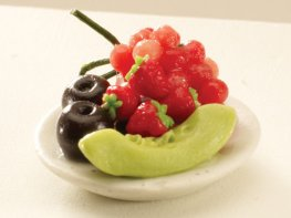 [DB] Fruit Plate - Melon & Grapes