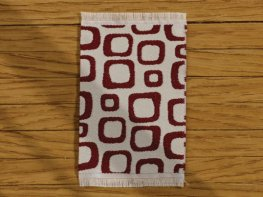 [DB] Modern Rug - Brown Squares [small] (*)