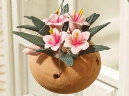 [DB] Hanging Basket - Pink Lilies