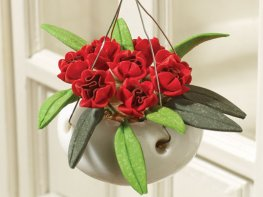 [DB] Hanging Basket - Red Peonies