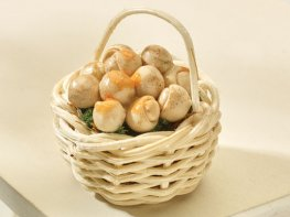 [DB] Wicker Basket with Mushrooms