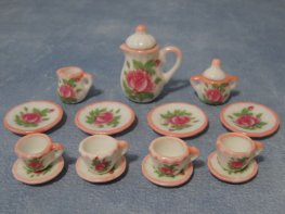 [DB] Ceramic Coffee Set - Pink Floral