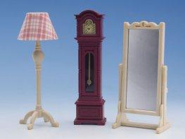 [SF] Clock, Lamp & Mirror Set (*)