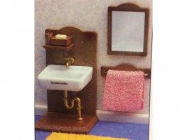 [SF] Ceramic Sink & Mirror Set (*)
