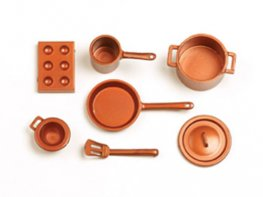 [SF] Copper Kitchen Pans - Set A (*)
