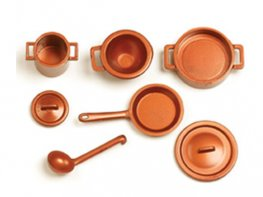 [SF] Copper Kitchen Pans - Set B (*)