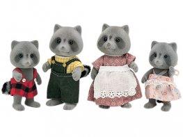 [SF] Vintage Chestnut Raccoon Family (*)