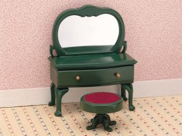 [SF] Ornate Dressing Table & Stool (*)