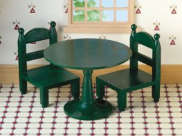 [SF] Green Round Table & Chairs (*)