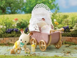 [SF] Chocolate Rabbit Twins Set with Pram