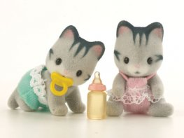 [SF] Harvey Grey Cat Twin Babies