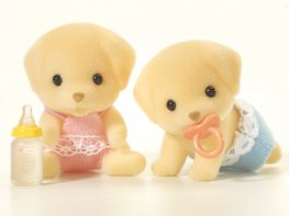 [SF] Fenton Yellow Labrador Twins