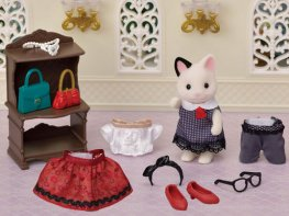 [SF] Fashion Playset - Town Girl Tuxedo Cat