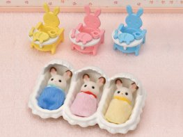 [SF] Chocolate Rabbit Triplets Care Set