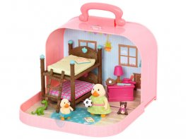 [LW] Travel Suitcase - Bunk Bed Playset (*)