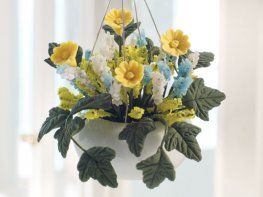 [DB] Hanging Basket - Green & Yellow