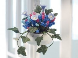 [DB] Hanging Basket - Blue & Pink