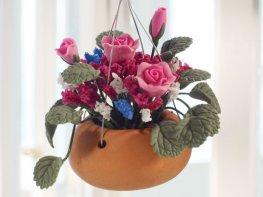 [DB] Hanging Basket - Pink Roses