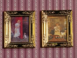 [DB] Paintings in Gold Frames [pair]