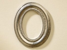[DB] Oval Picture Frame - Silver