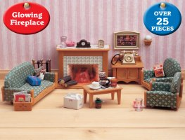 buy deluxe living room online sylvanian families. Black Bedroom Furniture Sets. Home Design Ideas